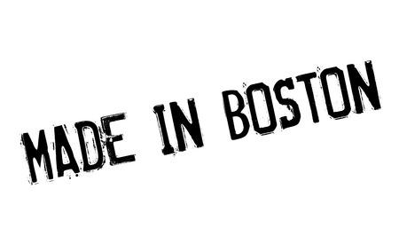 보스톤에서 만든 도장 일러스트