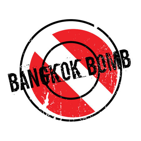 Bangkok Bomb rubber stamp