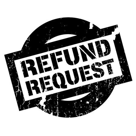Refund Request rubber stamp