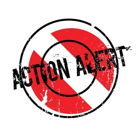 Action Alert rubber stamp