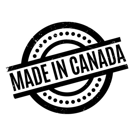Made In Canada rubber stamp Illustration