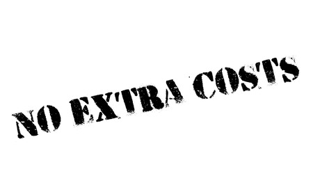 outgoing: No Extra Costs rubber stamp