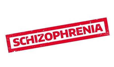 Schizophrenia rubber stamp Illusztráció