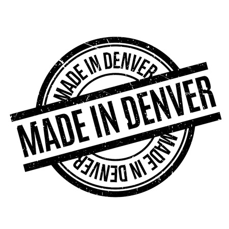 Made In Denver rubber stamp Stock Vector - 81410477