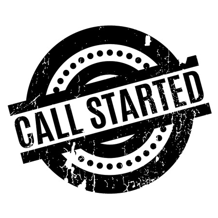 Call Started rubber stamp