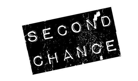 2 番目のチャンスのゴム印  イラスト・ベクター素材
