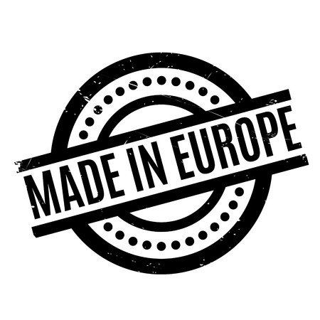 Made In Europe rubber stamp
