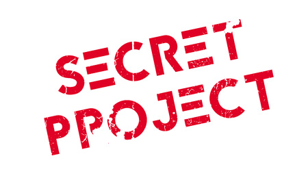 Secret Project rubber stamp Stock Photo