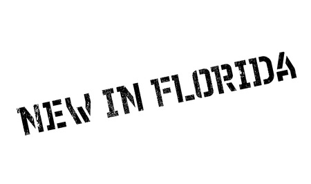 New In Florida rubber stamp Stock Vector - 81365159