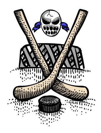 Cartoon image of Hockey Icon. Sport symbol