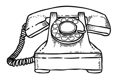 電話のアイコンの漫画のイメージ。電話の記号  イラスト・ベクター素材
