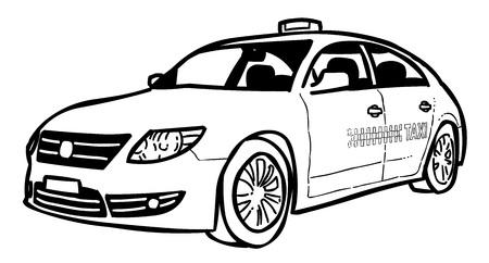 Cartoon image of Taxi Icon. Car symbol