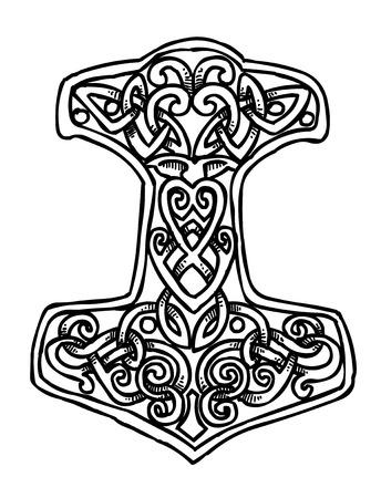 Cartoon image of Thor Hammer Icon