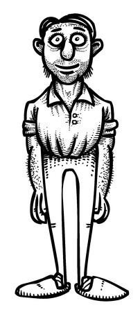 Imagen de la historieta del padre Foto de archivo - 81520370
