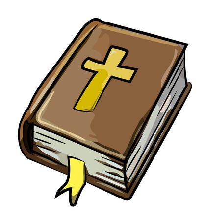 聖書のアイコンの漫画のイメージ。宗教のシンボル