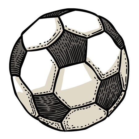 Cartoon image of Football ball Icon. Soccer ball pictogram Illustration