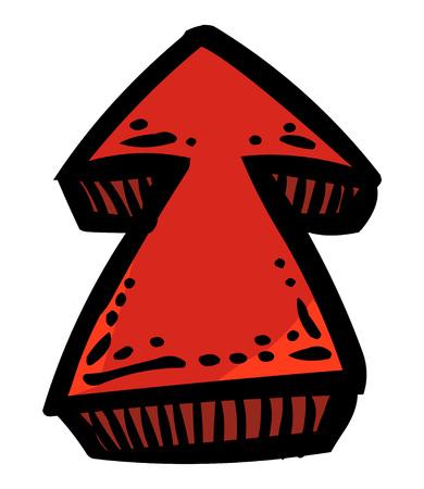 Cartoon image of Arrow Icons Stock Photo