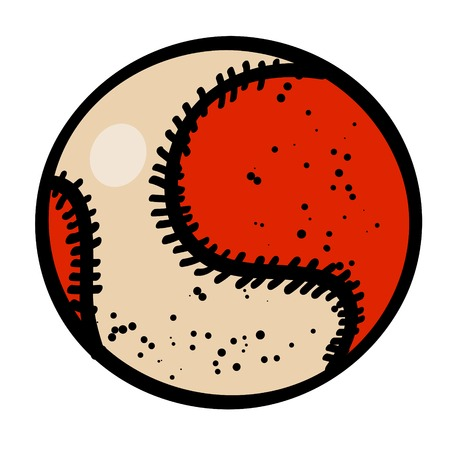 Cartoon image of Baseball ball Illustration