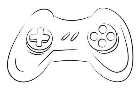 joy pad: Cartoon image of Game Icon. Gamepad symbol Illustration
