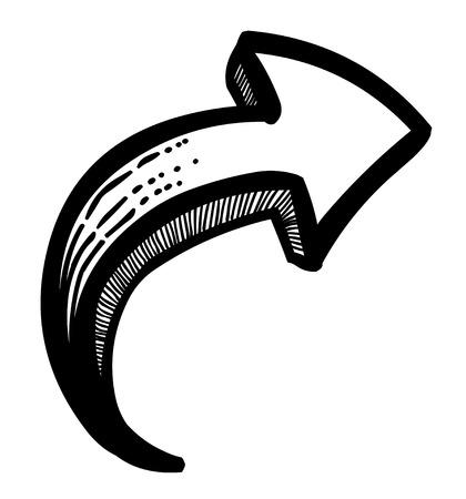 designator: Cartoon image of Arrow Icon. Arrow symbol Illustration