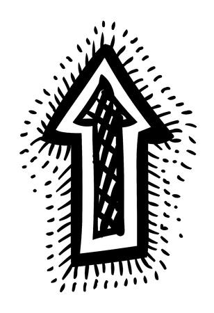 designator: Cartoon image of Arrow Icons Illustration