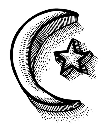 Cartoon image of Islam symbol