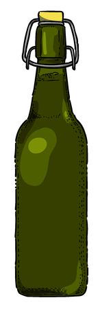 Cartoon image of Beer bottle Icon. Glass bottle symbol Stockfoto