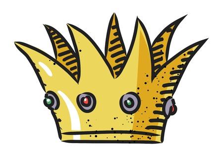 Cartoon image of Crown Icon. Crown symbol