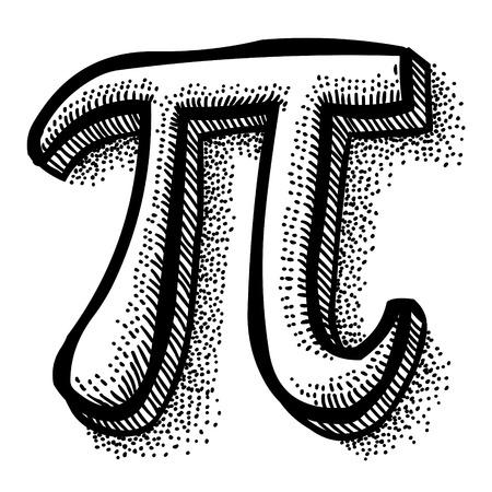 Pi のシンボルの漫画画像