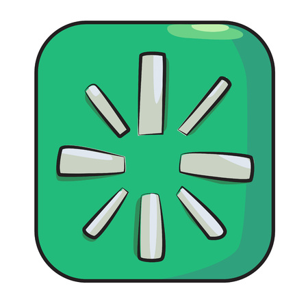 Cartoon image of Restart Icon Illustration