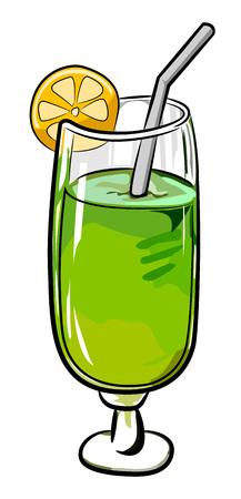 Cartoon image of Cocktail Icon. Glass symbol
