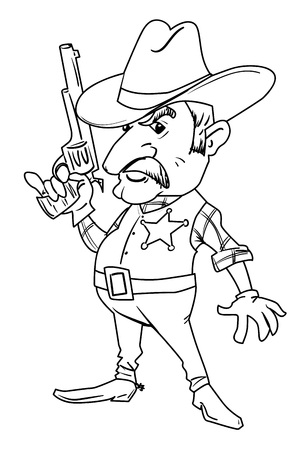 Cartoon image of sheriff