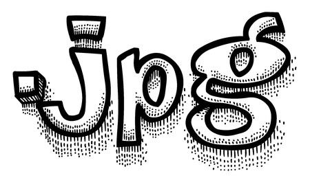 Cartoon image of JPG document Illustration