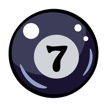 cue ball: Cartoon image of Pool ball Icon. Billiard symbol Illustration