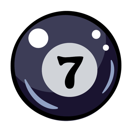 Cartoon image of Pool ball Icon. Billiard symbol Illustration