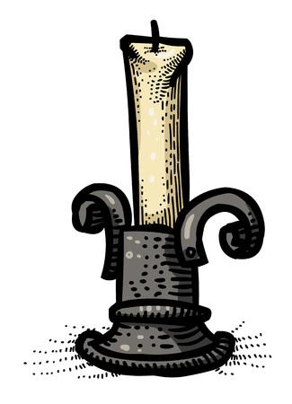 Cartoon image of Candle Icon. Memorial symbol