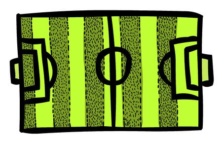 soccer goal: Cartoon image of Football field
