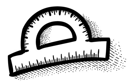 Cartoon image of Protractor