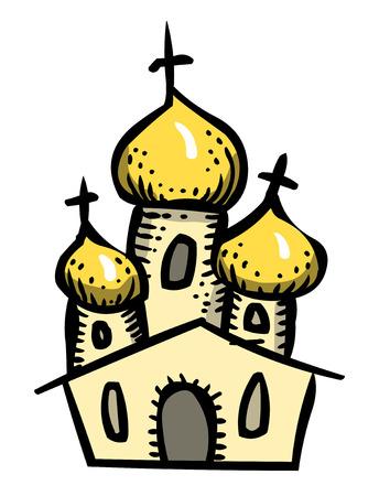 easter cross: Cartoon image of Church Icon. Religion symbol