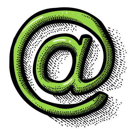 Cartoon image of Web Icon. Website pictogram. Internet symbol Illustration