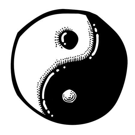 Cartoon image of Ying yang Icon