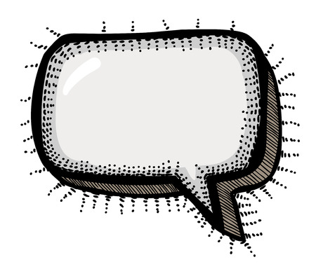 Cartoon image of Chat Icon. Speech bubble symbol