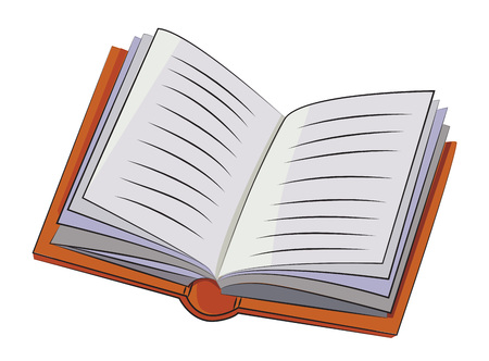 Cartoon image of Book Icon. Book symbol
