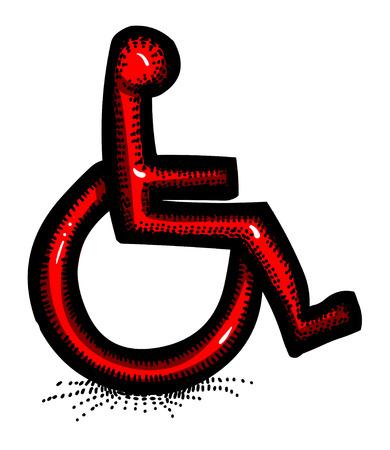 Cartoon image of Handicap Icon. Accessibility symbol