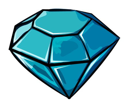 Cartoon image of Diamond Icon. Diamond symbol