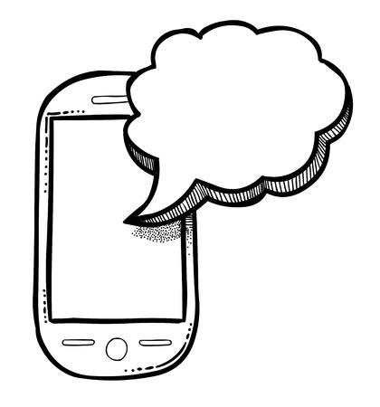 Cartoon image of Message Icon. Sms symbol