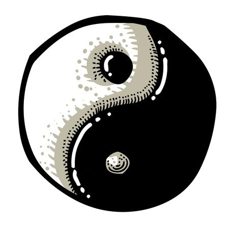 Cartoon image of Ying yang Icon Stock Vector - 81521355