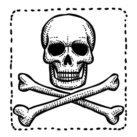 Cartoon image of Hazard warning attention sign