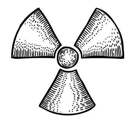 Cartoon image of Radio Active Icon. Radioactive sign. Radiation