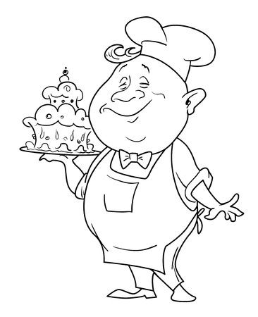 quirky: Cartoon image of chef Illustration